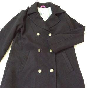 BOGO^^ girls xl black pea coat 14
